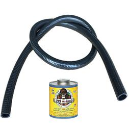 "HydroMaxx® 1 1/2"" Black UltraFlex Flexible PVC Pipe  - 25,"