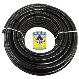 1 5 x 100 black flexible pvc