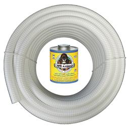 1 5 x 25 white flexible pvc