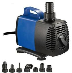 1200 GPH External Water Pump Hydroponics Pool Pond Aquarium
