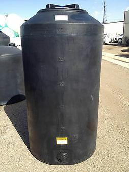 165 Gallon Black Poly Rain Water Harvesting Collecting Tank