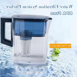 2.5L Jug Tasty Water Pitcher 1 Filter Durable BPA Free Clear