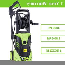 3000PSI 1.8GPM Cold Water Electric Pressure Washer w/ Hose D