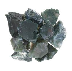 Digging Dolls: 5 lbs of Green Moss Agate Rough Stones from I