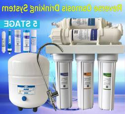 5 Stage 75 GPD Reverse Osmosis Pure Water Filter System with