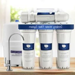 5 Stage Reverse Osmosis Drinking Water Filter System W/Fauce