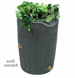 50 Gallon Plastic Barrel Water Collector Rain With Planter T