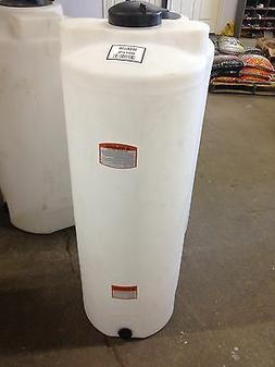 50 gallon vertical poly storage plastic tank, water harvest