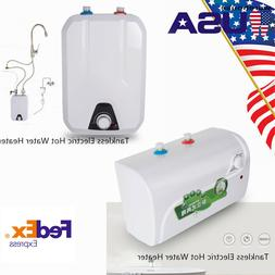 Tankless/Tank Hot Water Heater Electric House Shower Storage