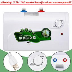 8L Tank Electric Hot Water Heater for Kitchen Bathroom 1500W