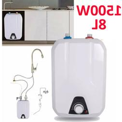 8L Tank Electric Hot Water Heater Home Kitchen Bathroom 1500