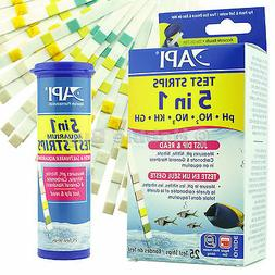 API 5-IN-1 TEST STRIPS Freshwater and Saltwater Aquarium Tes