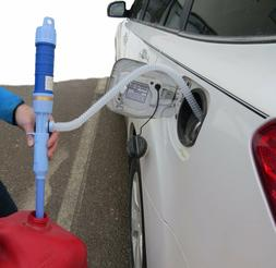 battery operated liquid transfer pump siphon gas