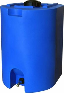 Blue 55 Gallon Water Storage Tank By WaterPrepared - Emergen