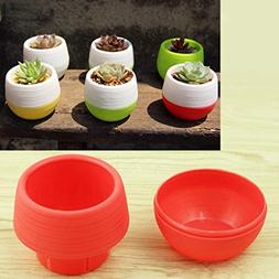 Dig dog bone Colourful Mini Round Plastic Plant Flower Pot G