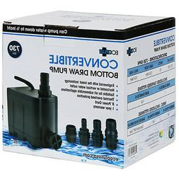Ecoplus Convertible Bottom Draw Pump Submersible Hydroponics
