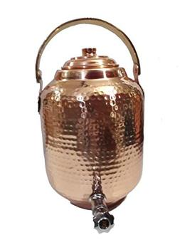 Biz2frnds Pure Copper Hammered Water Dispenser Seamless Stor
