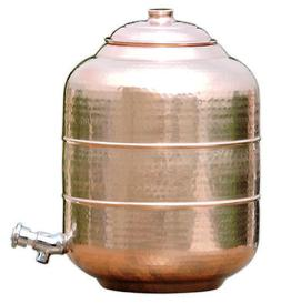 Copper Water Dispenser 15 Ltr 480 Oz Pot Storage Tank With T