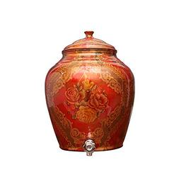 Taluka Pure Copper Water Pot Dispenser Matka Water Tank Wate