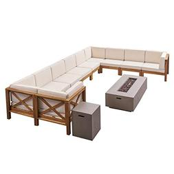 Great Deal Furniture Cytheria Outdoor Sectional Sofa Set wit