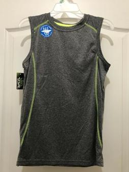 Dry Fit Water Resistant Boys Tank Top T-Shirt Sz L NWT Gray