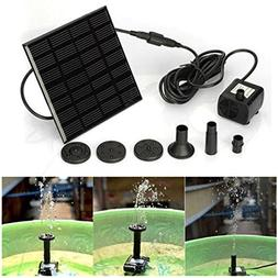 Ec Outdoor Home Solar Water Panel Power Fountain Pump Kit Po