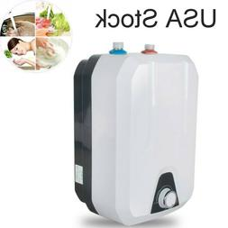 Electric Tank Hot Water Heater Kitchen Bathroom Home 1500W 8