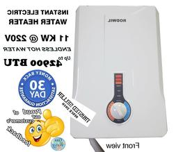 Electric Tankless Water Heater Instant On-Demand 11KW @ 220V