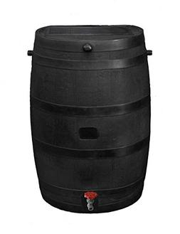 RTS Home Accents Flat Back Eco Rain Barrel Black