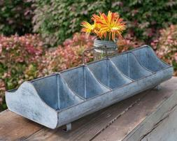 Galvanized Reproduction Feed Trough Caddy with Handle 10 com