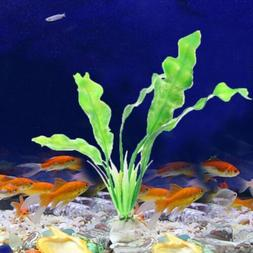 Green Water Plastic Grass Plant Ornament Decoration For Fish