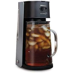 Iced Tea Maker 80oz Glass Carafe Removable Water Tank, Black