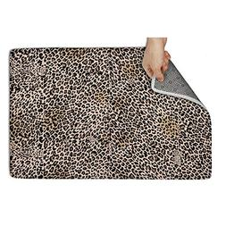 Wardell Indoor/Outdoor Dining Leopard Cheetah Print Brown Do