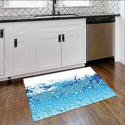 Indoor/Outdoor Floor Mat Aquarium Like Water Image Bubbles S