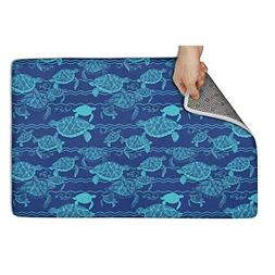 Wardell Indoor/Outdoor Kitchen Sea Abstract Turtles Blue Doo