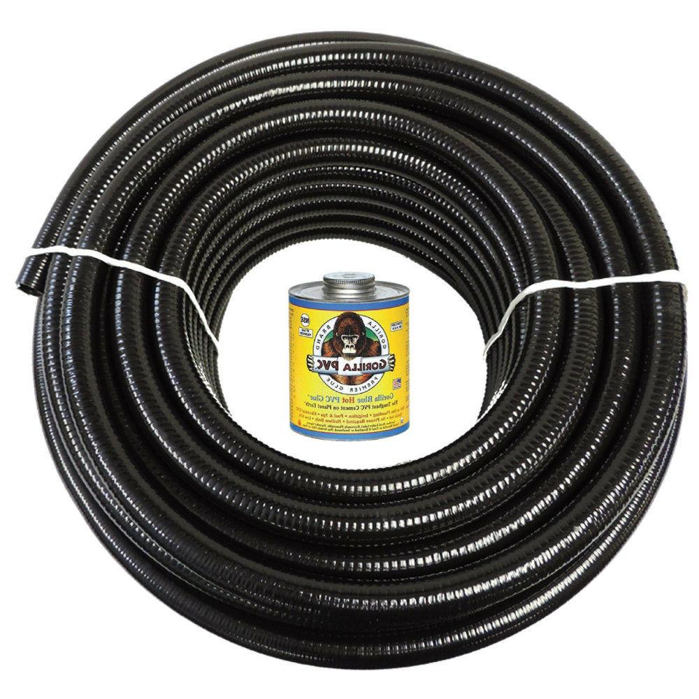 2 x 25 black flexible pvc pipe