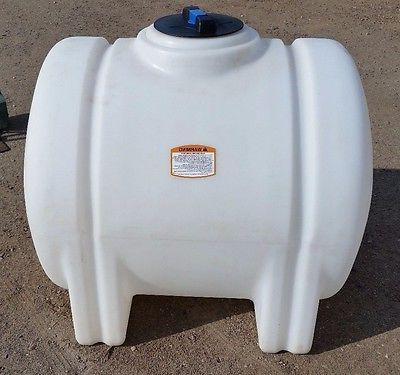 125 gallon poly plastic water storage tank