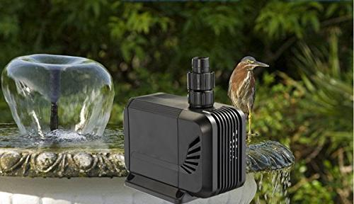 1500L/H, 15W Submersible Ultra Quiet Pump with 4.1ft Cord, Fish Pond, Statuary,