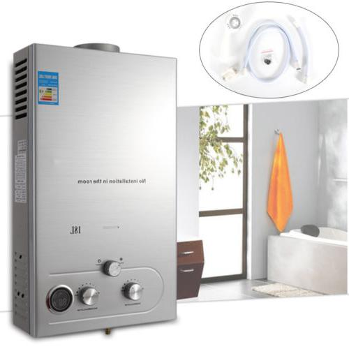 18L Natural Gas Tankless Hot Water Heater 36 KW Instant Boil
