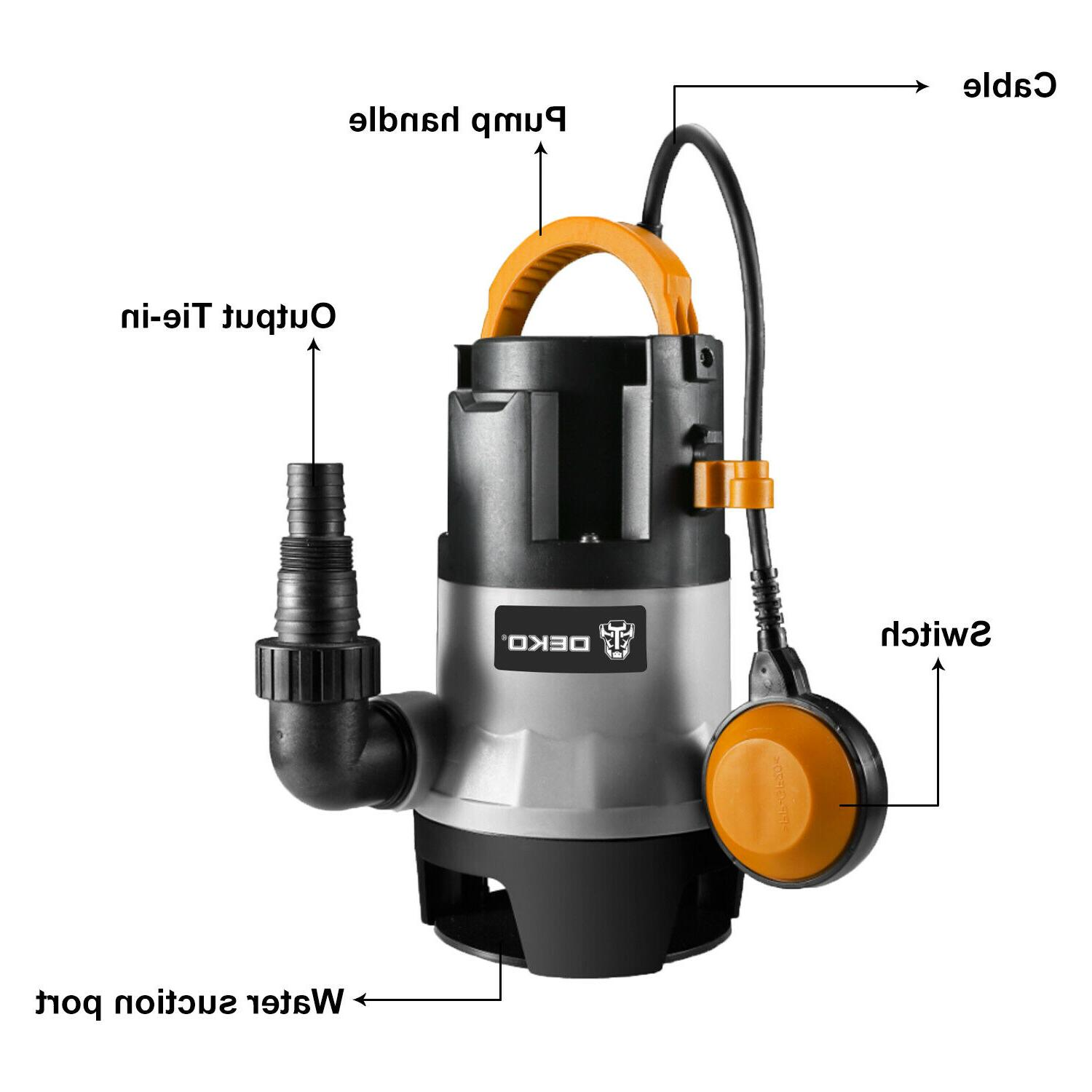 DEKO 400W 1/2HP Sump Pump Clean/Dirty Water Pump
