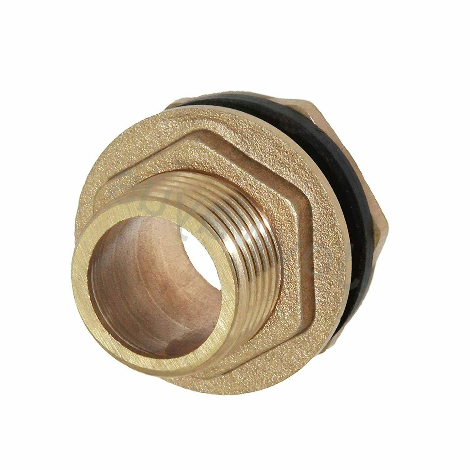 """3/4"""" Thread Brass Water Connector Tank Fitting Rubber Ring"""