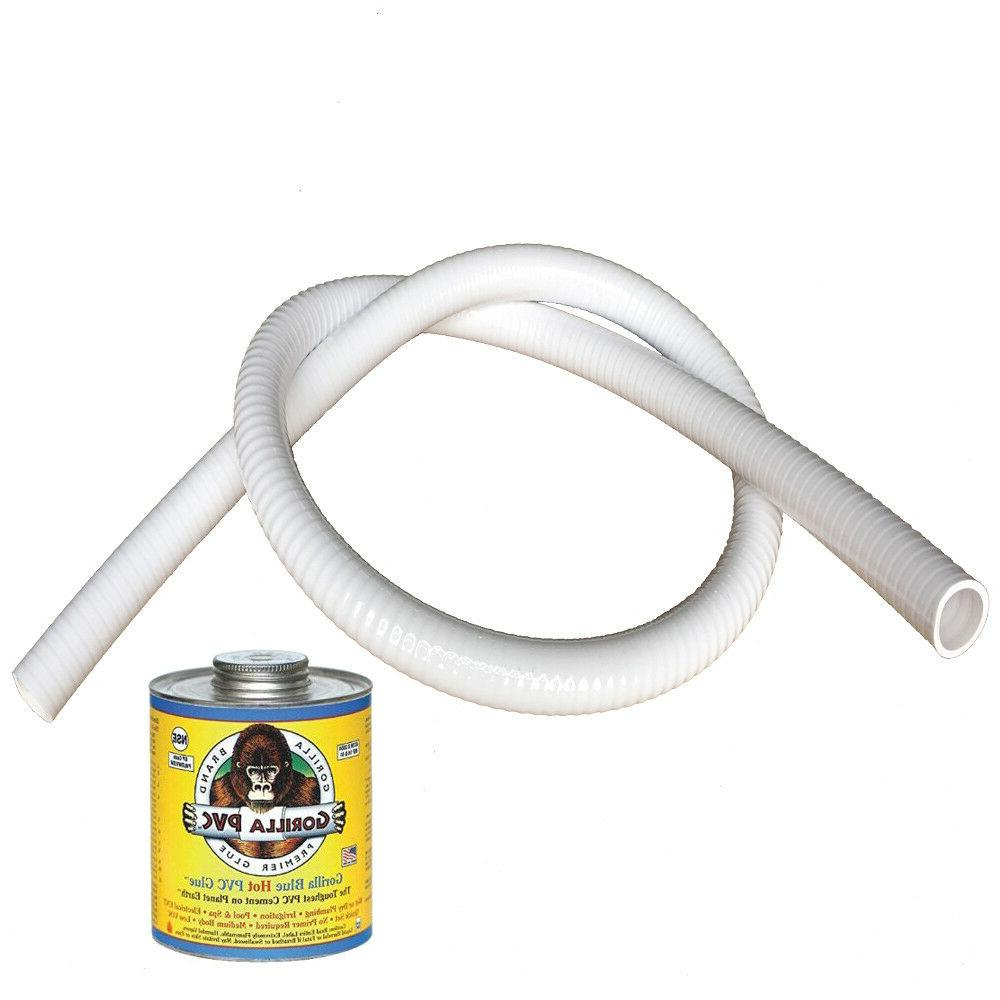 3 white ultraflex flexible pvc pipe hose