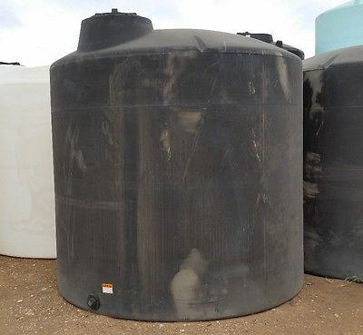 3000 gallon poly water only storage tank