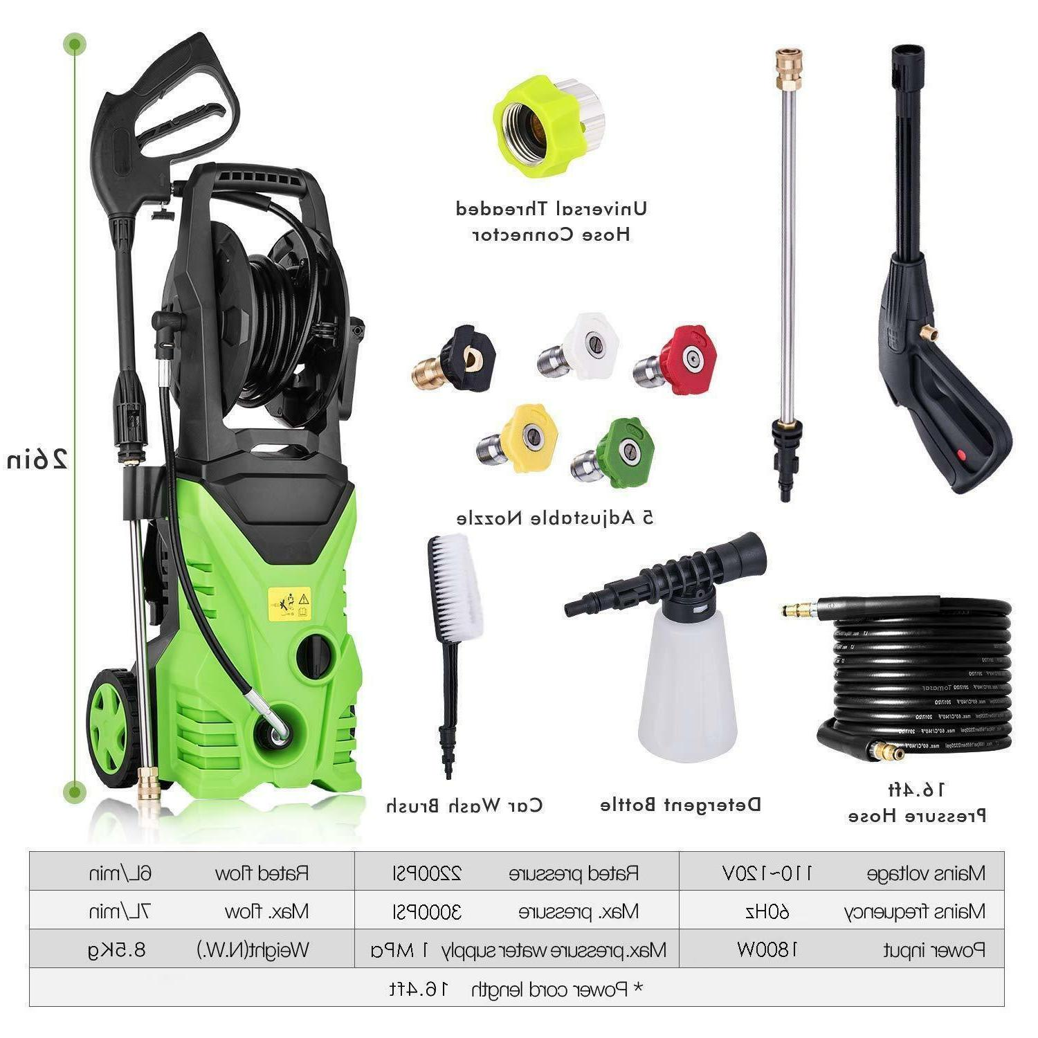 3000PSI High Water Electric Pressure Washer w/ Hose Tank