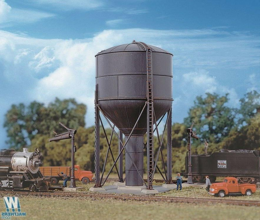 3817 Walthers Cornerstone Steel Water Tank -- Kit  N Scale