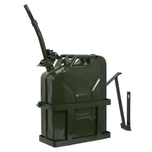 5 Jerry 20L Gasoline Water Tank Backup Gas Metal Container