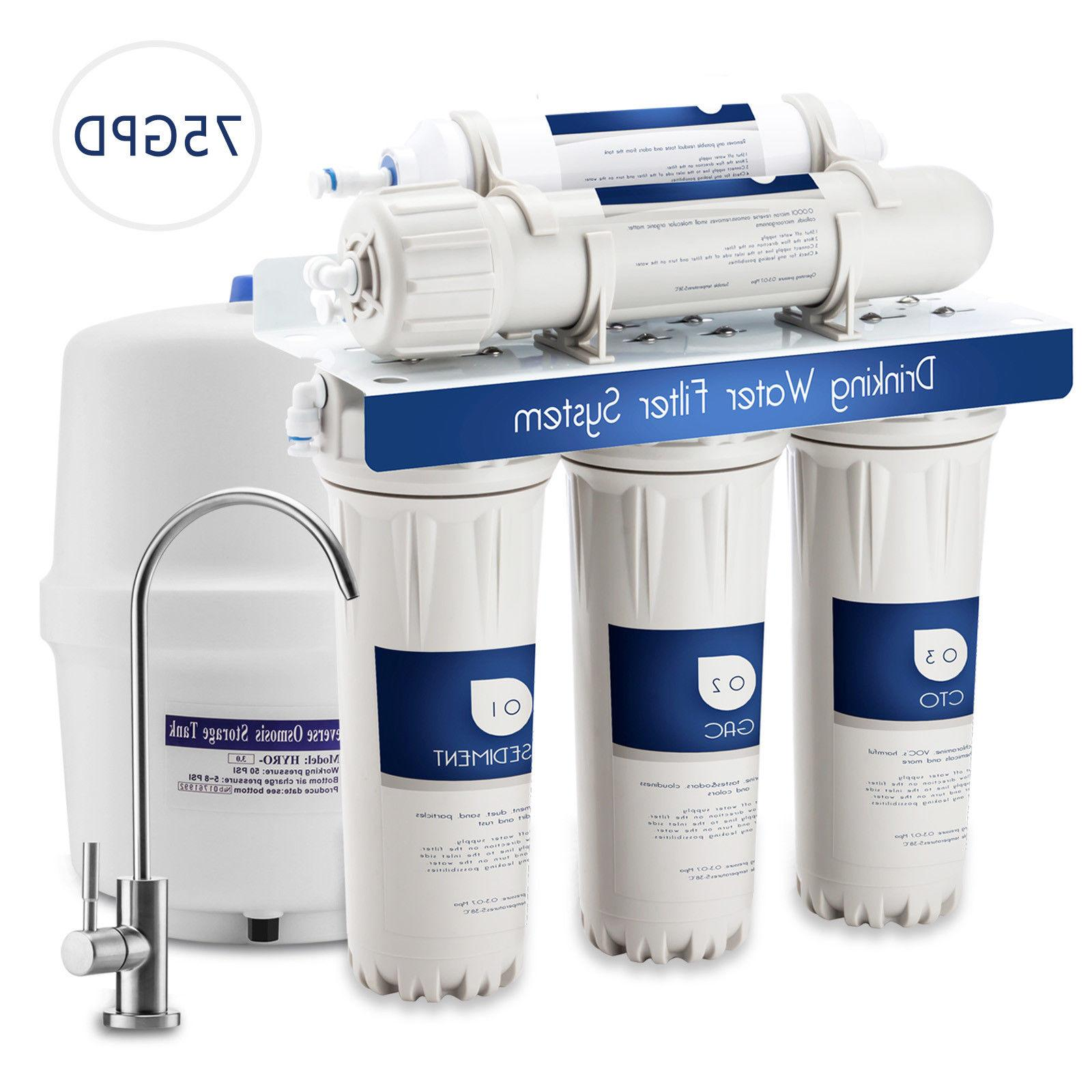 5 stage reverse osmosis drinking water filter