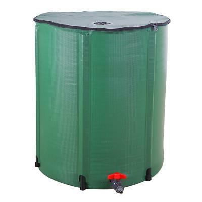 50 Gallon Rain Barrel Water Collector Collapsible Tank Spigo