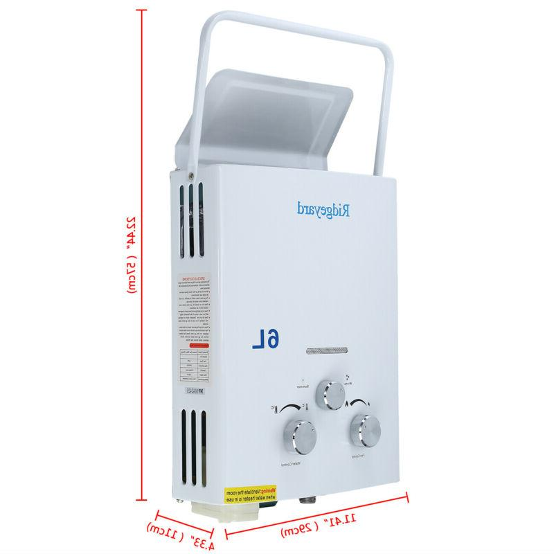 6L LPG Portable Tankless Hot Campers