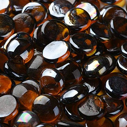 amber glass pebbles